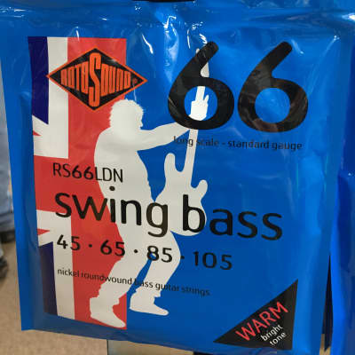 Rotosound RS66LDN 66 Swing Bass Round Wound Bass Strings - Standard (45-105)