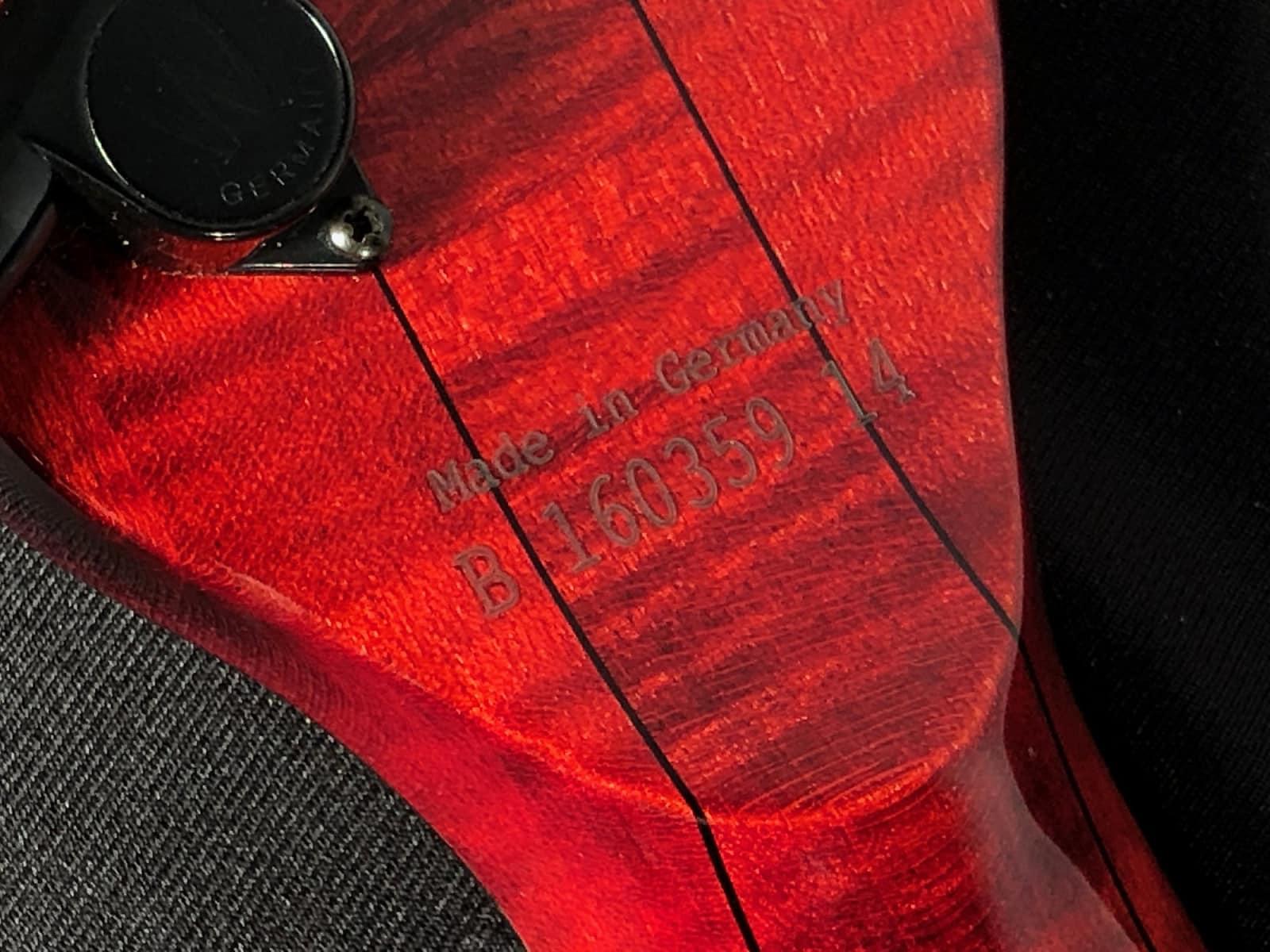 2014 Warwick Vampyre Masterbuilt Custom Shop Quilt Top w Neck-Thru 4 String Bass ~ NEW/OLD STOCK