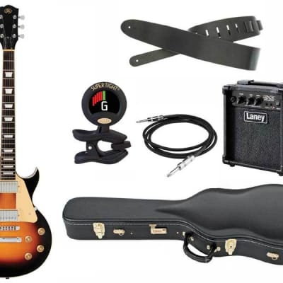 SX Pro Les Paul Electric guitar package with Hardcase for sale