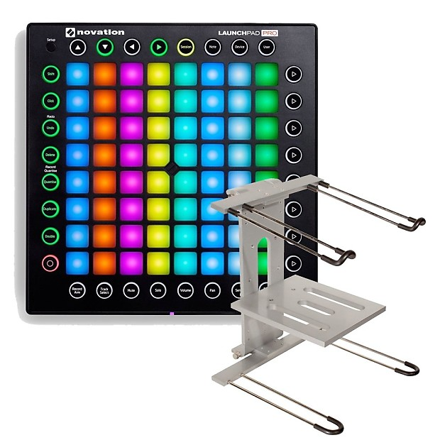 Novation Launchpad Pro USB MIDI Controller for Ableton Live with Ultimate  Support Laptop Stand