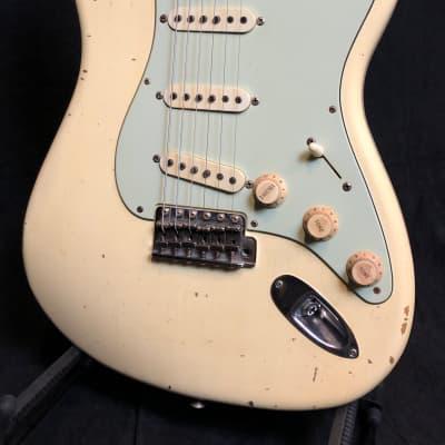 Fender Masterbuilt Jason Smith '60 Stratocaster Relic 2015 Olympic White Relic for sale