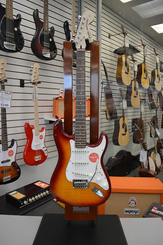 Squier Standard Stratocaster FMT - Amber Burst