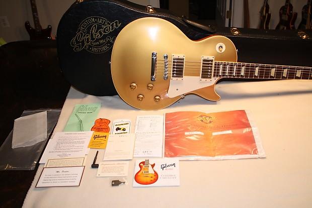 afccee8cd4cf90 Description; Shop Policies. Gibson Les Paul Standard Gold Top VOS. Custom  Shop Art and Historic 1957 Reissue