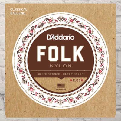 Daddario Folk Nylon 80/20 Ball End EJ33