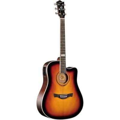 Tagima Guitars America Series Kansas T Acoustic Electric Guitar, Sunburst for sale