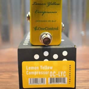 One Control BJF Lemon Yellow Compressor Guitar Effect Pedal for sale