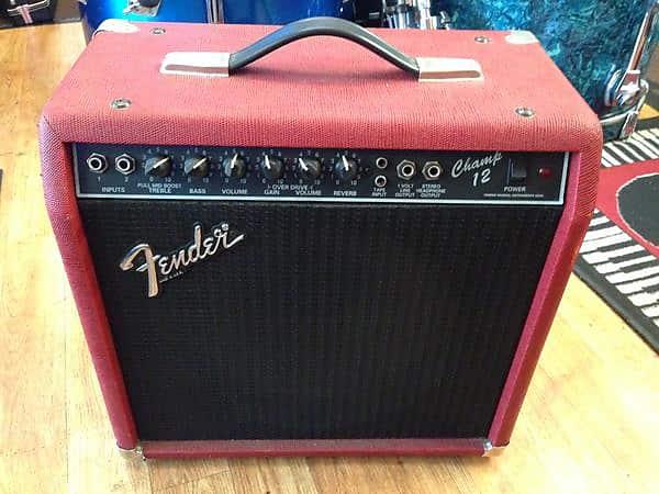 1980's Red Tolex Fender Champ 12 All Tube Amp Rivera Era ... on