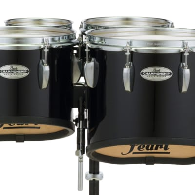 Pearl 6+8+10+12+13+14 Championship Maple Marching Toms- Midnight Black