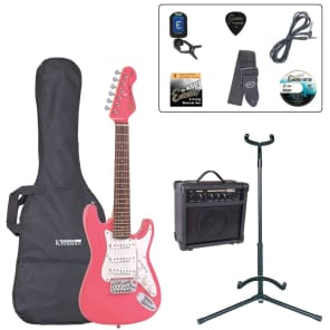 ENCORE 3/4 SIZE ELECTRIC GUITAR OUTFIT - PINK for sale