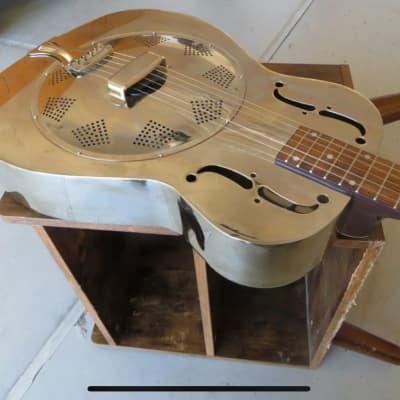 Regal 500 chrome dobro resonator guitar with case