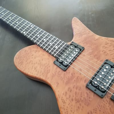 Fodera Imperial 2012 New Redwood Burl Walnut Body for sale
