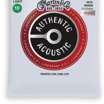 Martin MA500T Authentic Acoustic Lifespan 2.0 12 String Guitar Set