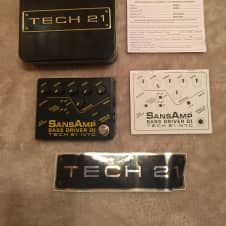 Tech 21 Sansamp Bass Driver DI with Tin and Papers