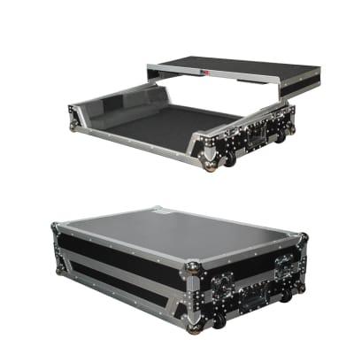PROX ATA Road Case Laptop Shelf & Wheels for Numark NS7iii or NS7ii Controller