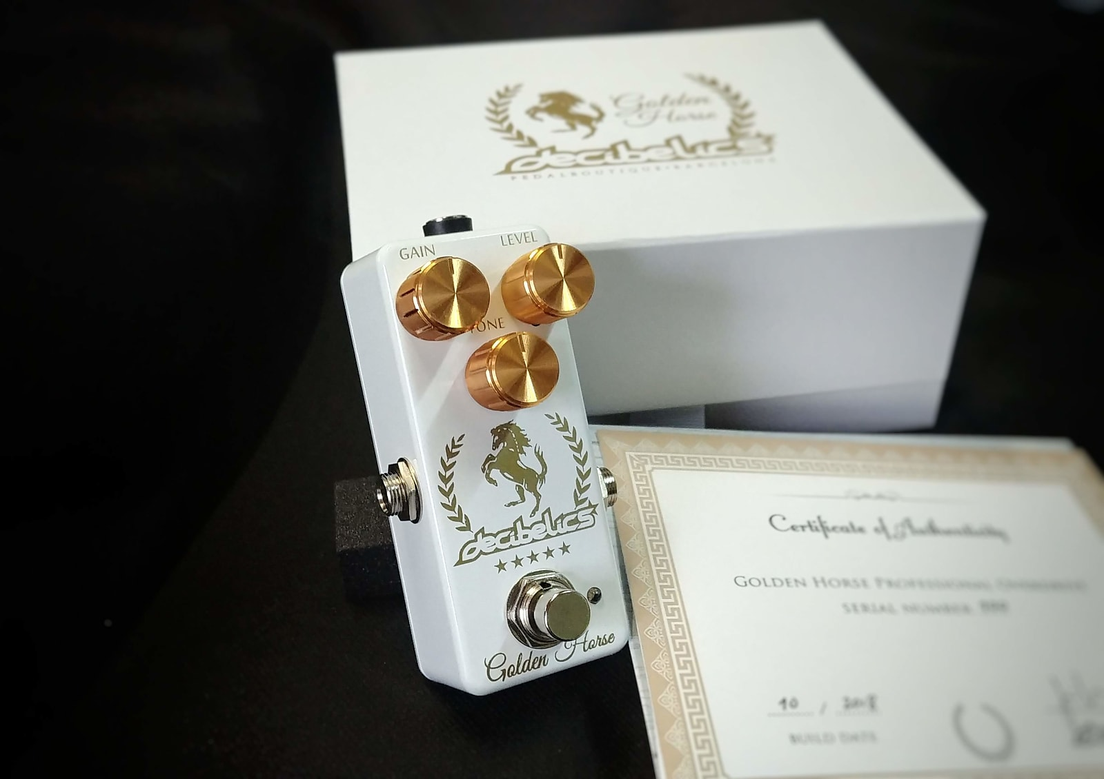Decibelics Golden Horse Professional Overdrive - Special White Edition - May Preorder