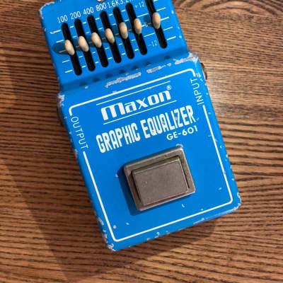 Maxon GE-601 Graphic Equalizer 1980s MIJ Japan Guitar Effect Pedal for sale