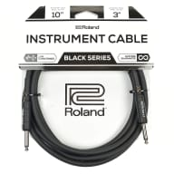 """Roland Black Series 10ft S/S 1/4"""" Instrument Cable"""