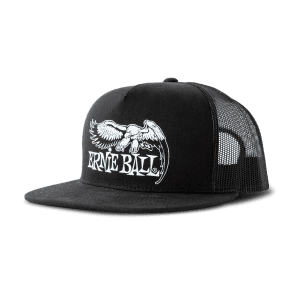 Ernie Ball 4158 BLACK WITH WHITE ERNIE BALL EAGLE LOGO HAT - Ships FREE Lower 48 States! for sale