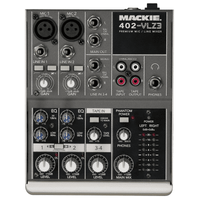 Mackie 402-VLZ3 4-Channel Mic / Line Mixer