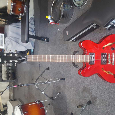 Epiphone EDTSCHCH4 Limited Edition Dot Studio Cherry S/N 18121500996 With Hardshell Case for sale