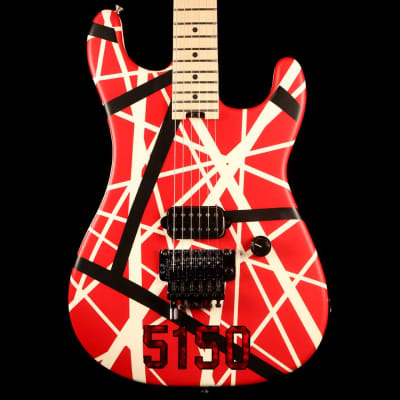 EVH Striped Series 5150 Striped Red Black and White 2017
