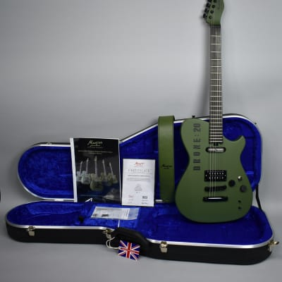 2016 Manson MB DR-1 Matthew Bellamy Signature Drone Guitar Numbers Edition Green #20 MUSE w/OHSC for sale