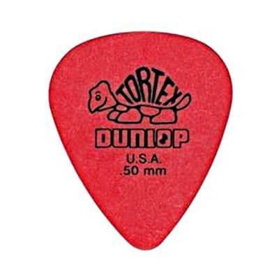Dunlop 418R50 Tortex Standard .50mm Guitar Picks (72-Pack)