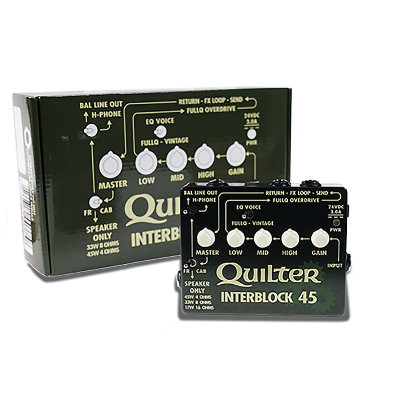 quilter labs interblock 45 effects pedal sized guitar amp reverb. Black Bedroom Furniture Sets. Home Design Ideas