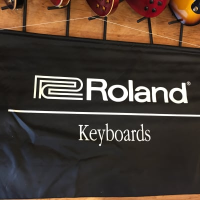 """Roland Banner (58"""" x 37"""") Black and white"""