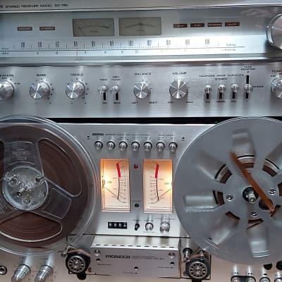 Pioneer  Rt 707 70's Silver Faceplate Blk Metal Body