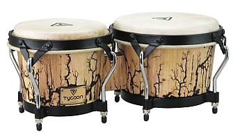 Tycoon Percussion 12 Chrome Plated Chimes On Siam Oak Bar