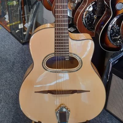 Cafe American Grande Bouche Gypsy Jazz Guitar, Sycamore back and sides, Solid spruce top for sale