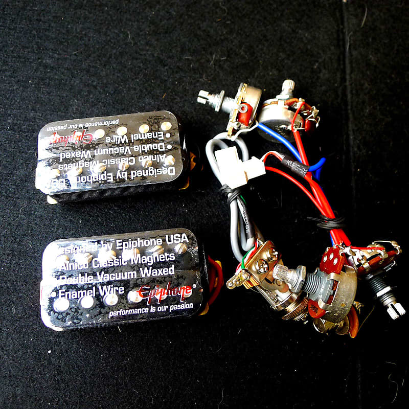 epiphone guitar humbucker pickups with wiring harness for reverb. Black Bedroom Furniture Sets. Home Design Ideas