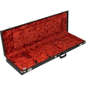 Fender G&G Deluxe Jazz Bass Hardshell Case, Black with Orange Plush Interior, Fender Amp Logo 2016