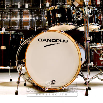Canopus Yaiba 5pc Groove Drum Set Ebony Lacquer