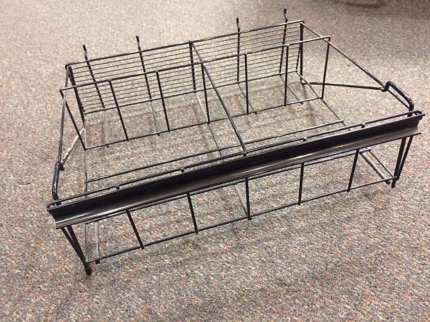 4 6 space drumstick display rack for slat wall or drum reverb. Black Bedroom Furniture Sets. Home Design Ideas