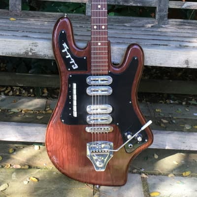 Welson ELLL-Son Italian Bizarre Guitar 1964 Brown Wooden Effect for sale