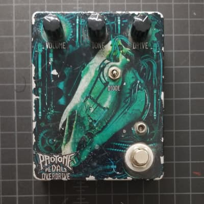 Protone Pedals Deadhorse Overdrive 2010s Green Horse Blemish, Finish Flaking Off Works Great