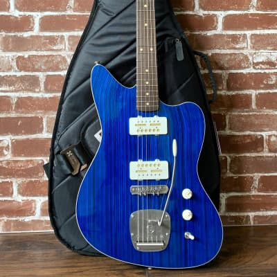 Prisma Guitars Toledo, Blue Stain Skate Top, Mojo UK Gold-Foil for JM Pickups. NEW, *Price Reduced* Read full description. (Authorized Dealer) for sale