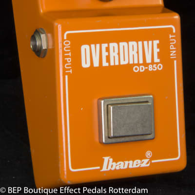 """Ibanez OD-850 Overdrive 1981 Japan s/n 151710 with """"R"""" Logo"""