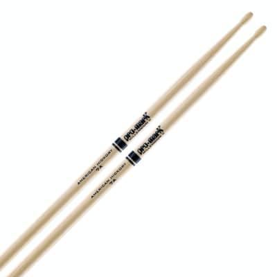 Promark 7AW Hickory Drumsticks - Wood Tip