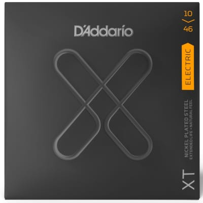 D'Addario XTE1046 Regular Light Nickel Plated Steel Electric Guitar Strings 10-46 Gauge