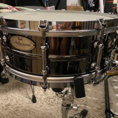 """Pearl PHB1450 Philharmonic 14x5"""" Beaded Brass Concert Snare Drum"""