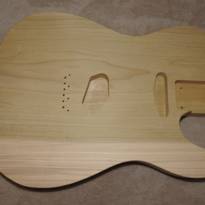 Unfinished Telecaster Body 1 Piece Poplar Standard Pickup Routes Really Light 4 Pounds 5.5 Ounces!