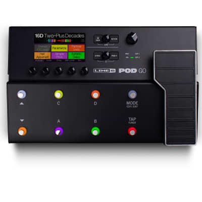 Line 6 POD GO Guitar Amp, Cabinet, and Effects Modeler w/ HX Effects and IR Loading