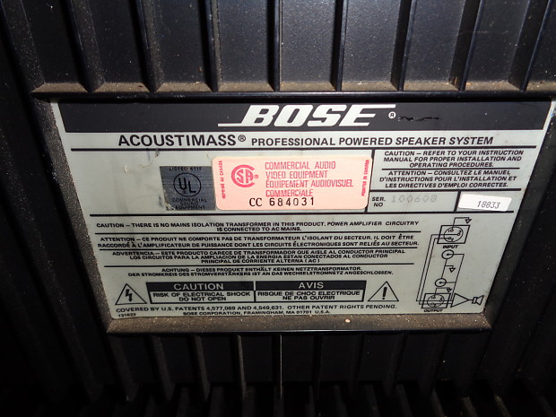 bose acoustimass professional powered speaker system 1 only reverb. Black Bedroom Furniture Sets. Home Design Ideas