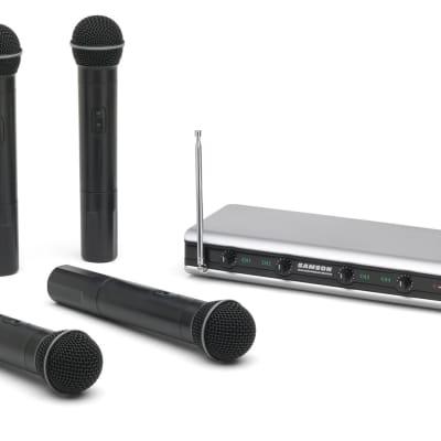 Samson Stage v466 Quad Handheld Vocal Wireless System - SWV466SHT6A