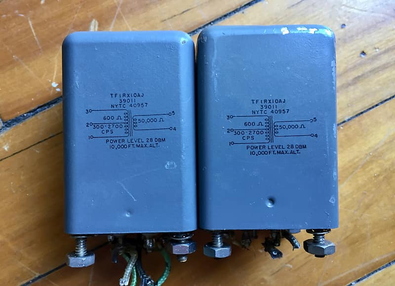 NYTC (2) Vintage Tube Mic Input Transformers 1950s