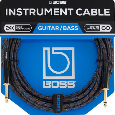 "Boss BIC-20 1/4"" TS Straight Instrument Cable - 20'"