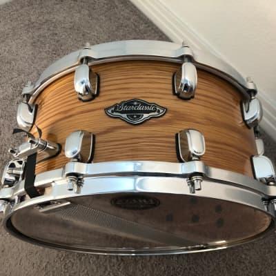 "Tama 14"" x 7"" Starclassic Performer B/B Snare Drum Natural White Oak Finish"